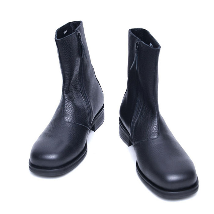 Sleek Full Grain Ankle Boots-Shoes 781