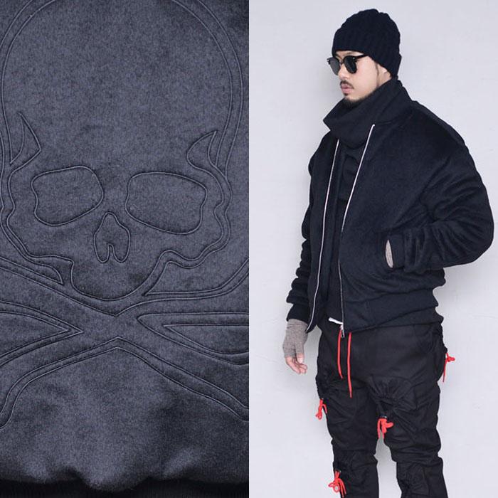 Loose Fit Skull Fur Jumper-Jacket 388