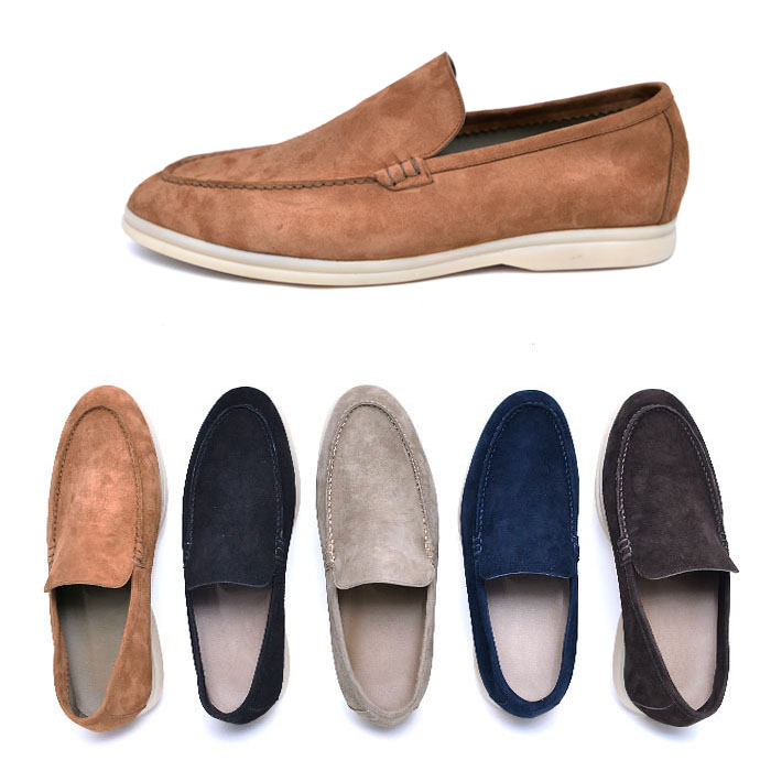 Slender Line Suede Loafer-Shoes 788
