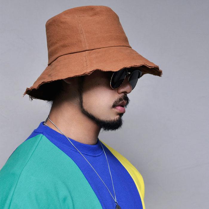 Vintage Wired Bucket-Hat 112