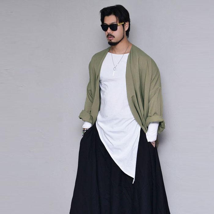 Loose Drape Unbalance Coat-Cardigan 299