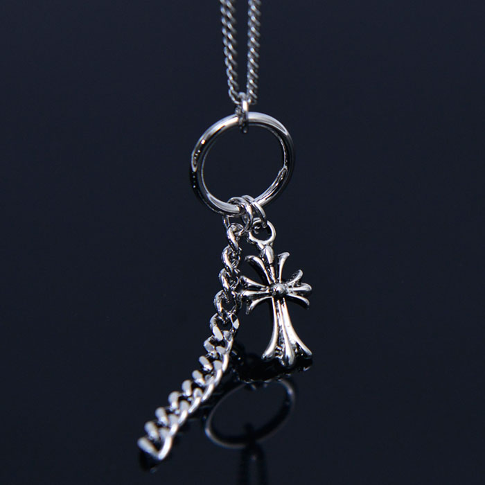 Gothic Cross Chain Lace-Necklace 382