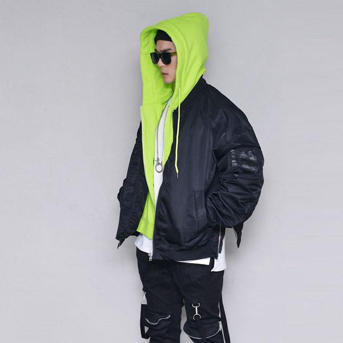 Hood Layered Street Jumper-Jacket 399