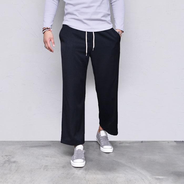 Wide Crop Banding Slacks-Pants 564