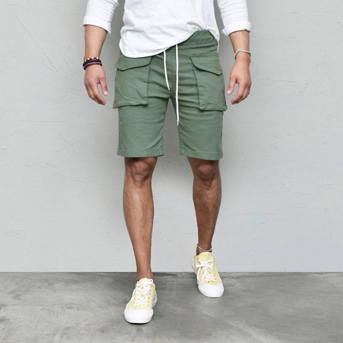 Front Pocket Stretchy Cargo-Shorts 228