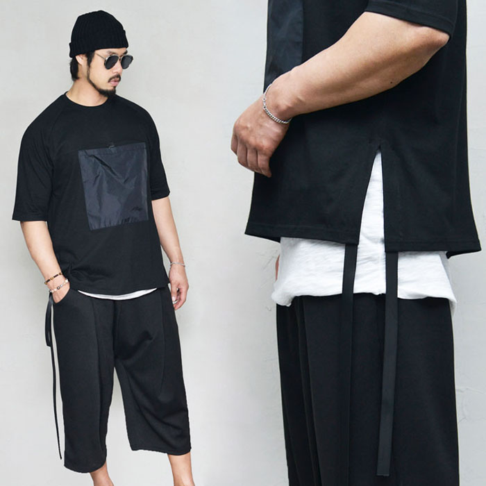 Big Pocket Long Strap Round-Tee 265