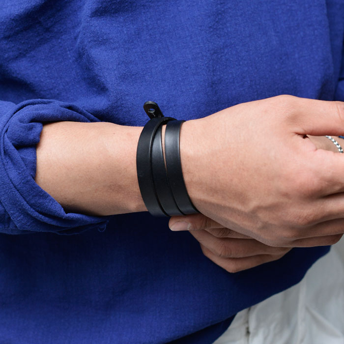 Triple Coil Cowhide Cuff-Bracelet 488