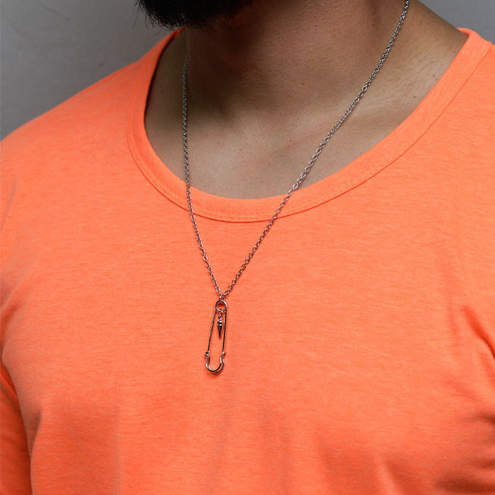 Triangle Safety Pin-Necklace 393