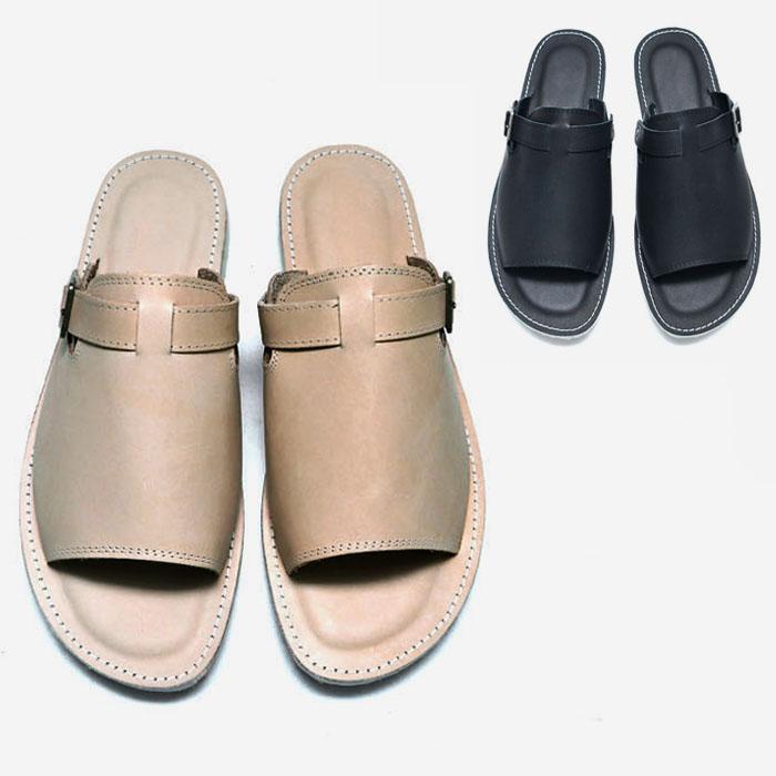 Sleek Classy Cowhide Sandals-Shoes 817