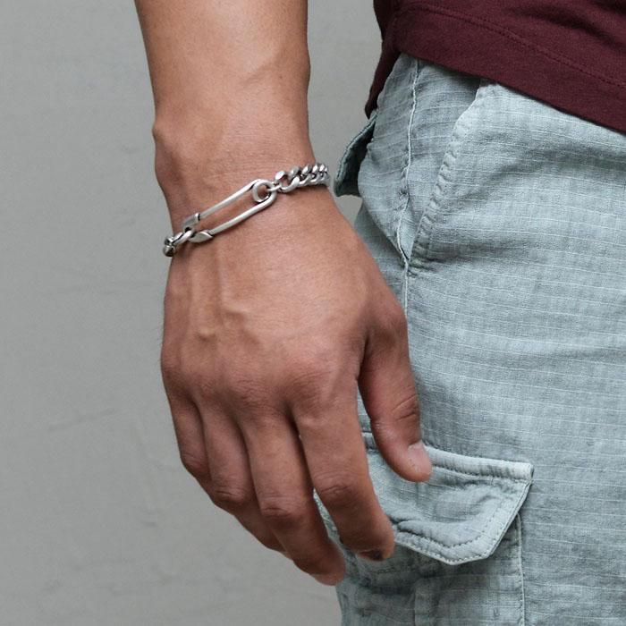Antique Pin Chain Cuff-Bracelet 494