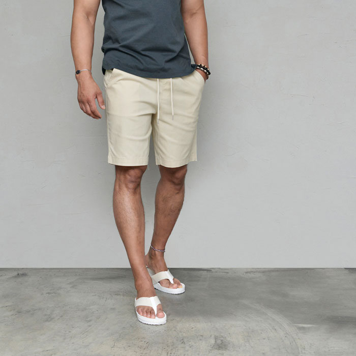 Clean Slim Cut Span Cotton-Shorts 256