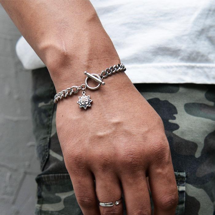 Sun Face Steel Cuff-Bracelet 499