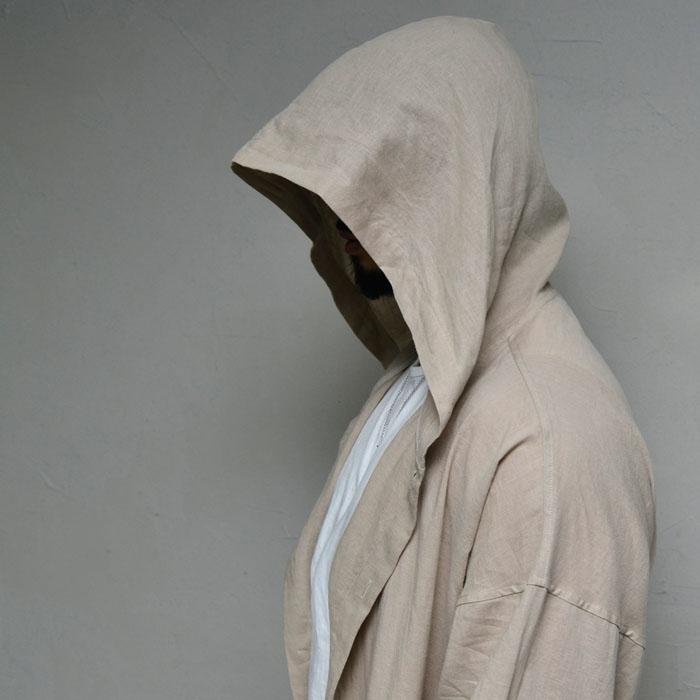 Wizard Loose Fit Linen Long-Coat 170