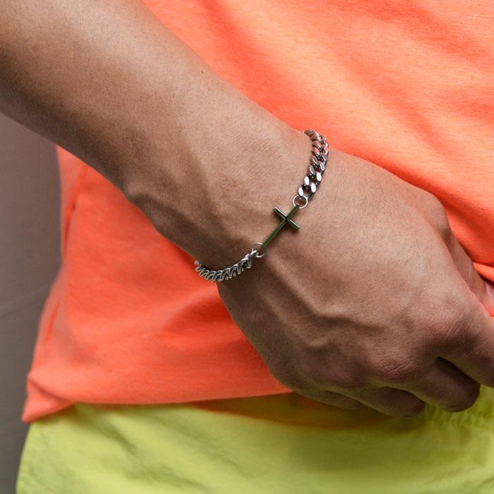 Cross Charm Chain Cuff-Bracelet 500