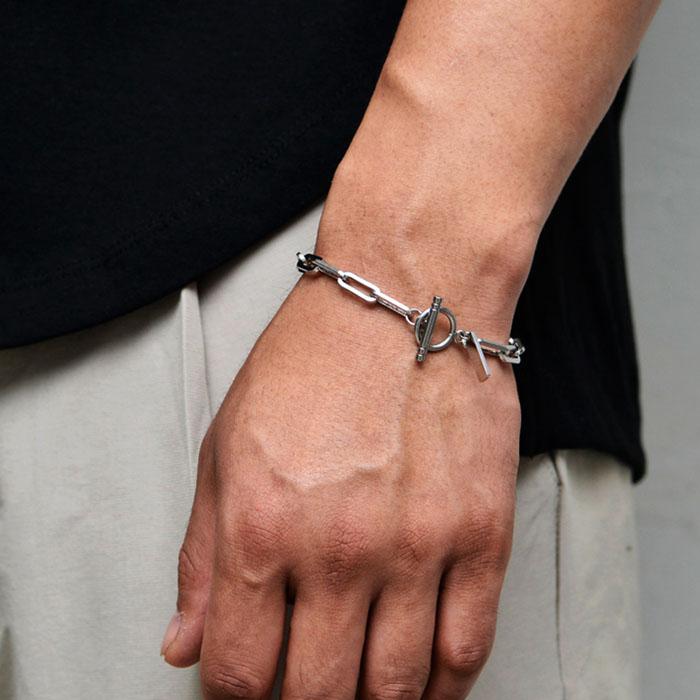Rectangle Chain O Ring Cuff-Bracelet 501