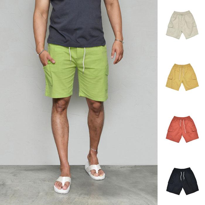 Stretchy Washing Linen Cargo-Shorts 264