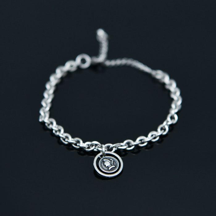 Face Coin Chain Cuff-Bracelet 503