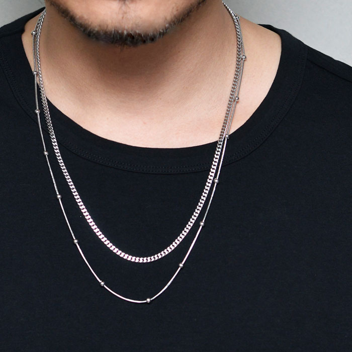 Ball Chain 2pc Set Steel-Necklace 406