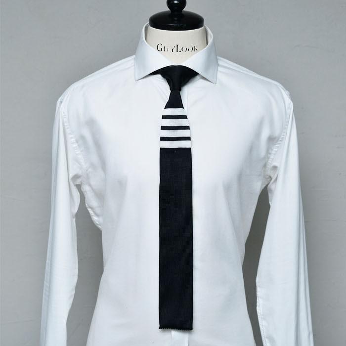 Classy Striped Square Knit-Tie 68