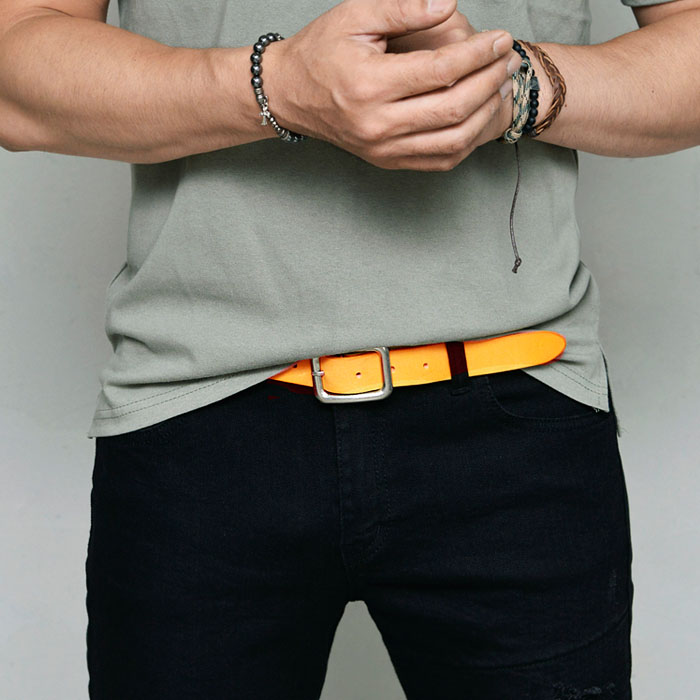 Coloful Vintage Wash Leather-Belt 210