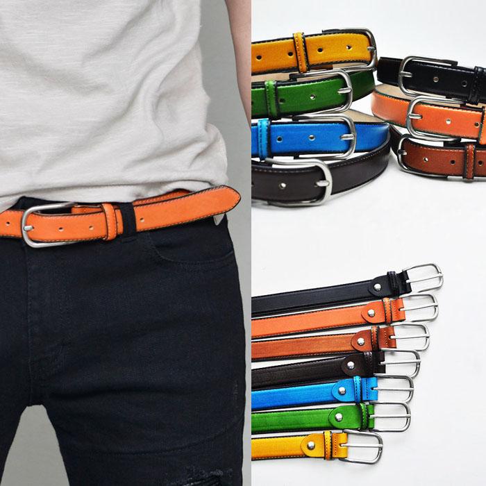Vivid Color Volume Leather-Belt 211
