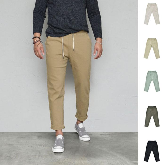 Span Twill Comfy Daily Banding-Pants 604