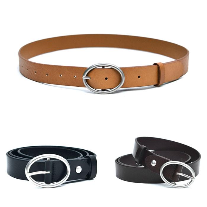 Round Buckle Cowhide-Belt 212