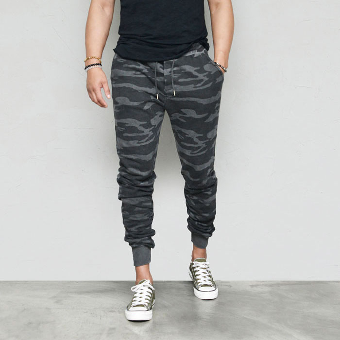 Washing Camouflage Shirring Jogger-Sweatpants 434