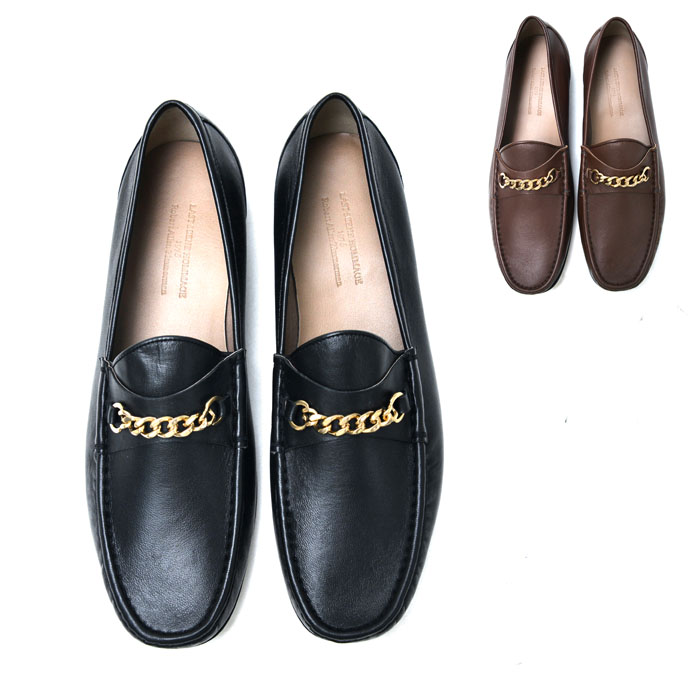 Soft Lambskin Gold Chain Loafer-Shoes 831