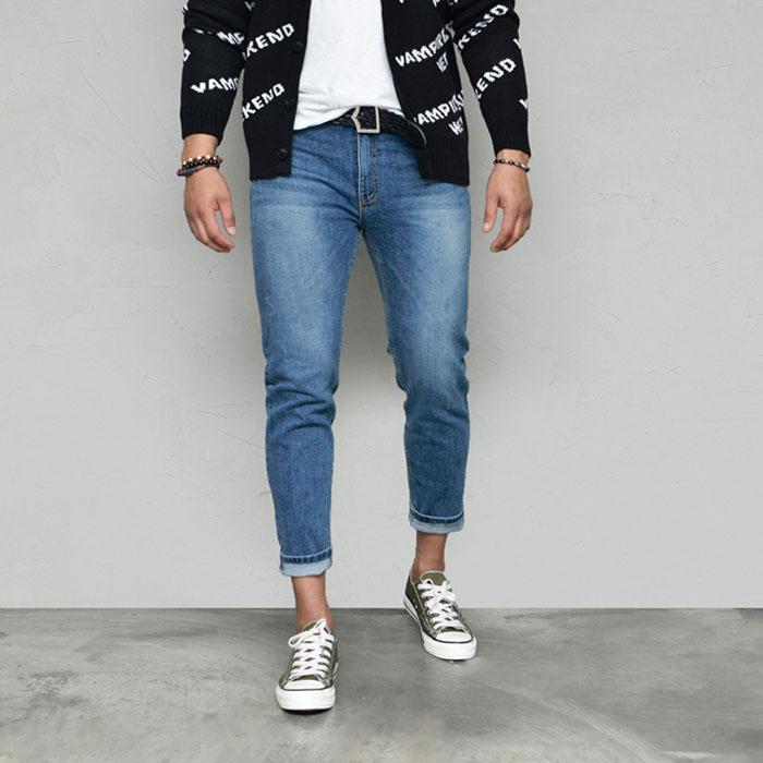 Classic Vintage Blue Slim Ankle-Jeans 572
