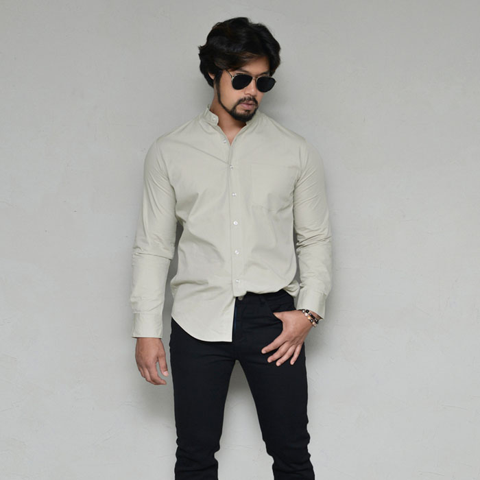 Slim fit Urban Standing Collar-Shirt 328