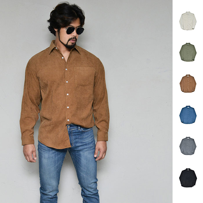 Romantic Laid-back Corduroy-Shirt 329