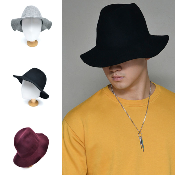Wave Felt Fedora-Hat 124