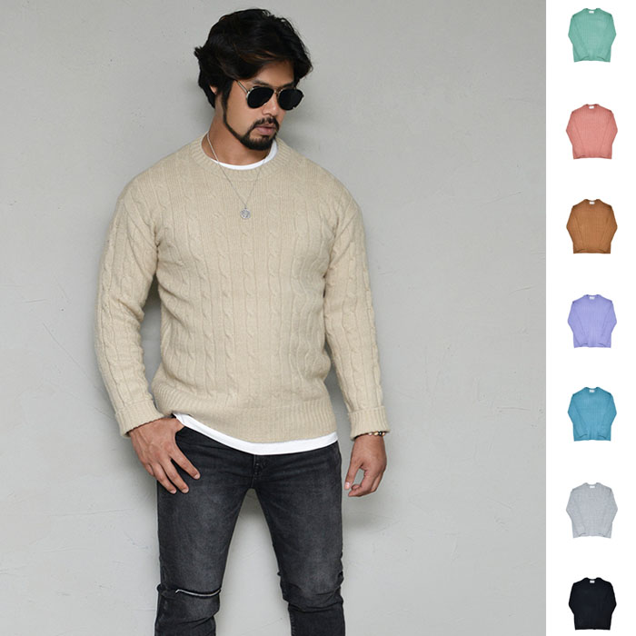 Classy Versatile Cable Sweater-Knit 254