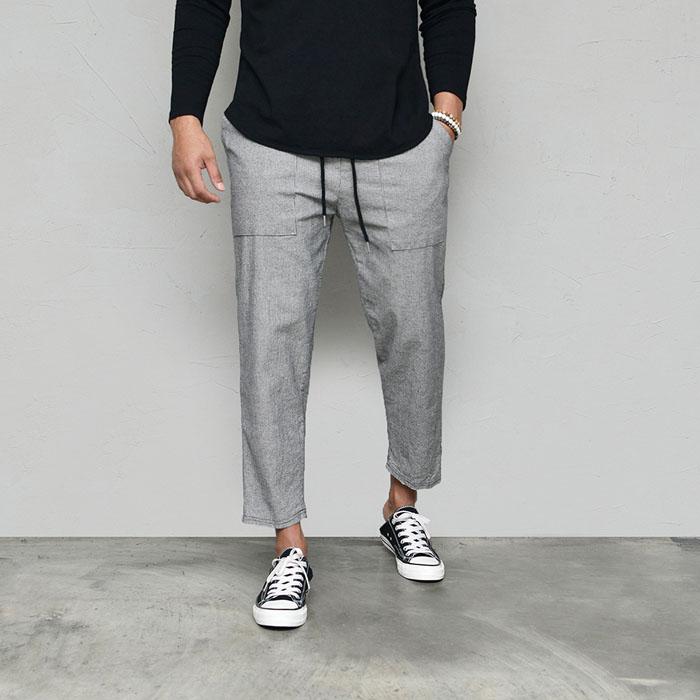 Classy Stretch Checker Banding-Pants 624