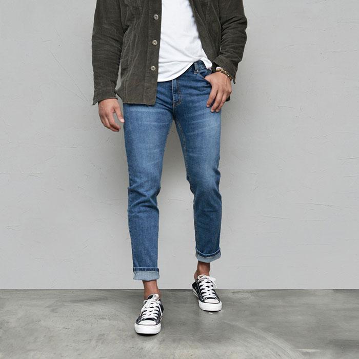 Slim Stretchy Daily Blue-Jeans 586