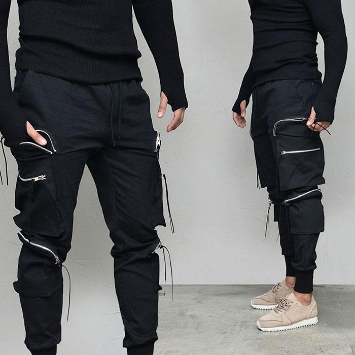 Power 6 Zipper Cargo Tech Jogger-Pants 629