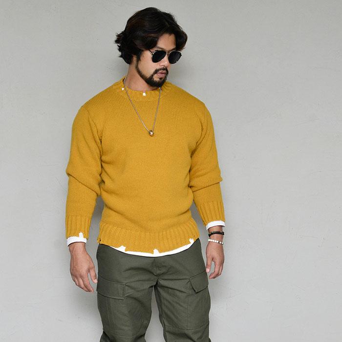 Vintage Damage Lambswool Sweater-Knit 260