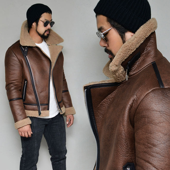 Highneck Rider Shearling-Leather 189