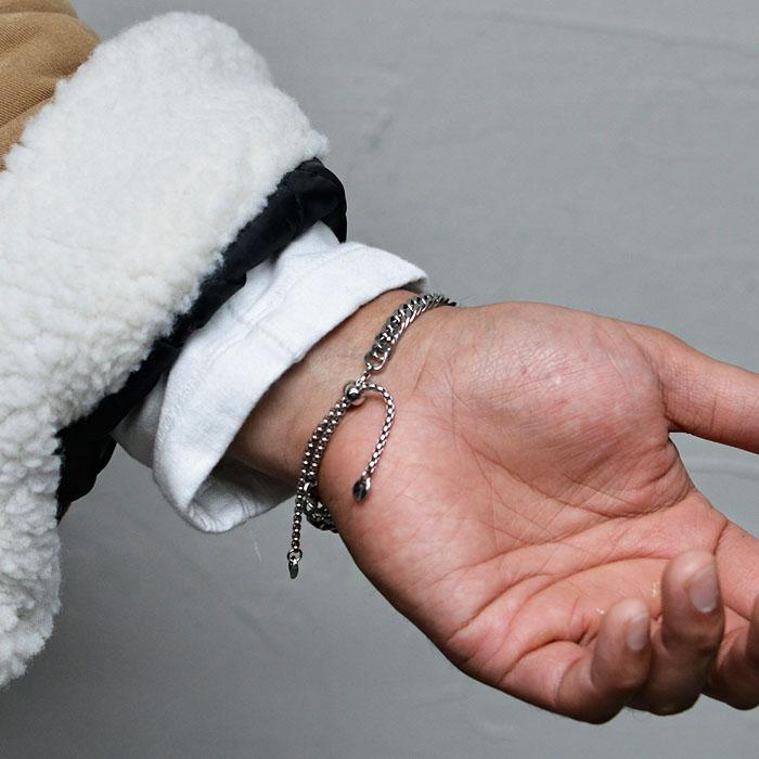 Convenient Tie-up Steel Cuff-Bracelet 508