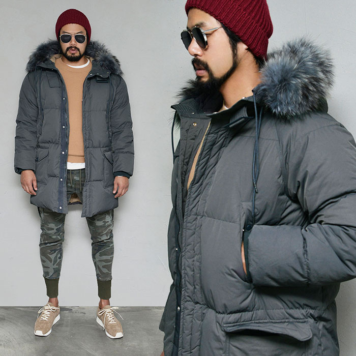 Real Raccoon Long Duckdown-Parka 120