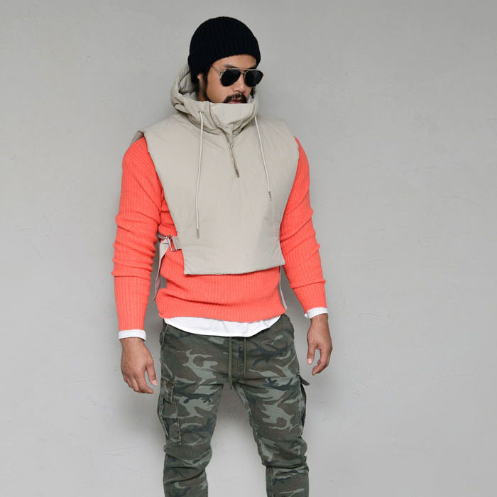 Tech Crop Anorak Hood Padding-Vest 167