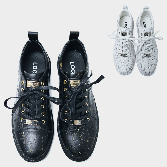 Spider Silicon Web Leather Sneakers-Shoes 841