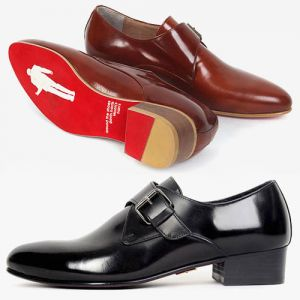 Mens Monk Strap Leather Shoes