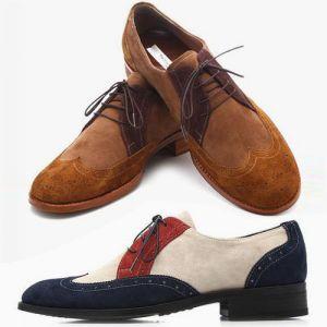 Suede Wingtip Shoes