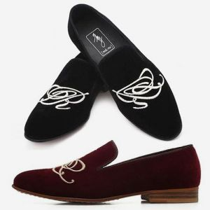men's slip on velvet loafer