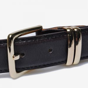 Luxurious Gold Buckle Leather Belt-Belt 26