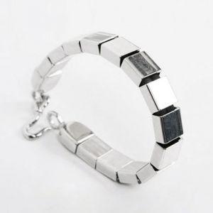 men's square silver bracelet