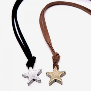 men's vintage star necklace