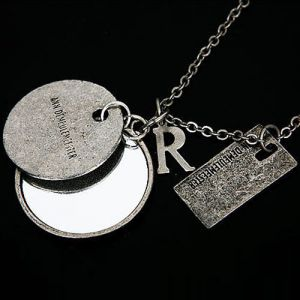 Vintage Mirror Charm Necklace-Necklace 19